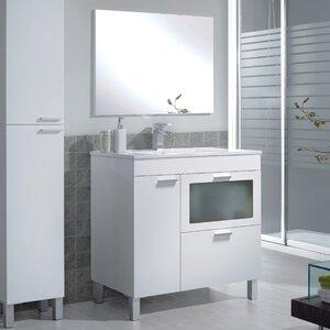 Home Etc 80 cm Waschtisch Akm mit Spiegel