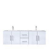 Paulden 60 Wall-Mounted Double Bathroom Vanity Set by Orren Ellis