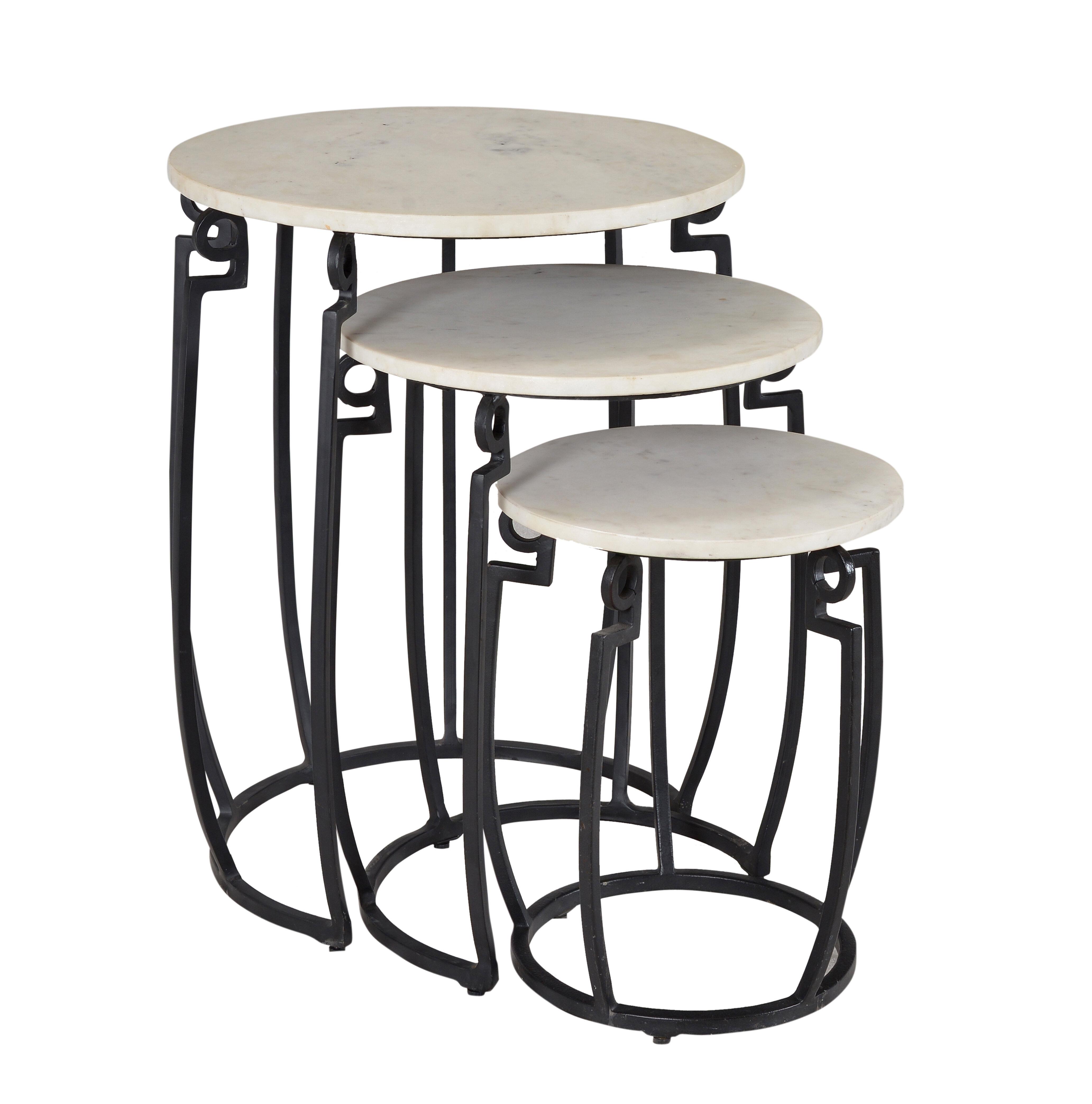 Latitude Run Shilin 3 Piece Nesting Tables Reviews Wayfair