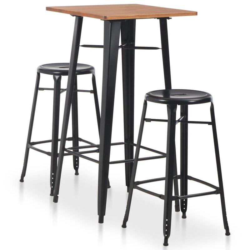 LoftDesigns Essgruppe Dewitt mit 2 Stühlen