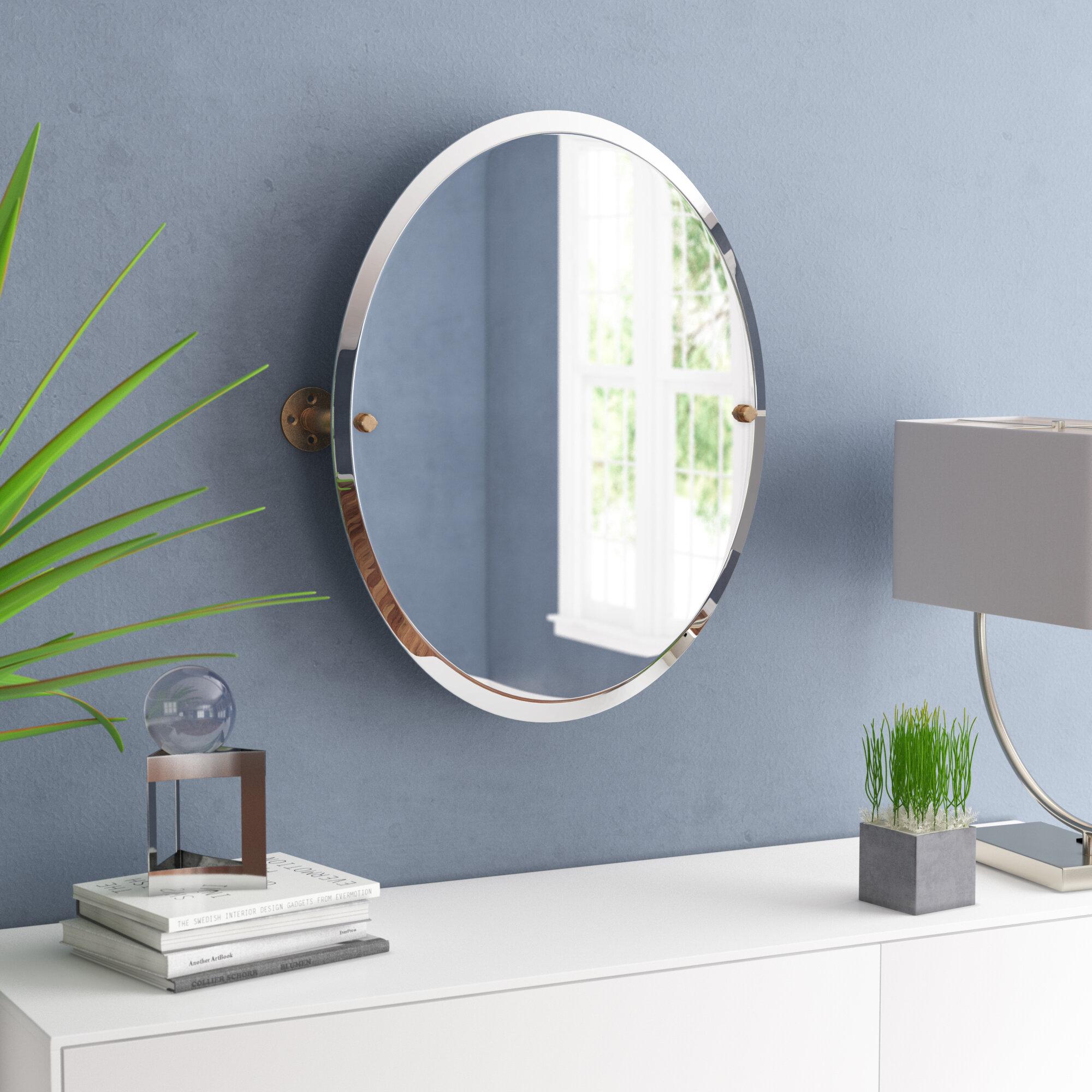 Bayer Frameless Oval Bathroom / Vanity Mirror