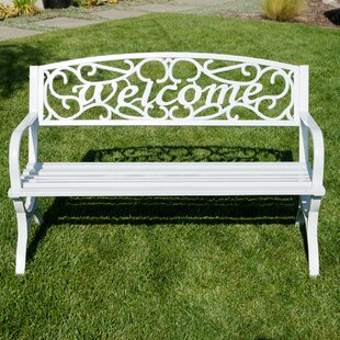 Belleze Outdoor Metal Park Bench