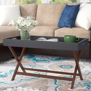 Lockheart Coffee Table with Removable Tray by Andover Mills