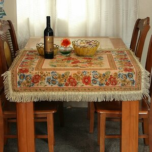 Great Tache Colorful Floral Country Rustic Morning Meadow Tablecloths