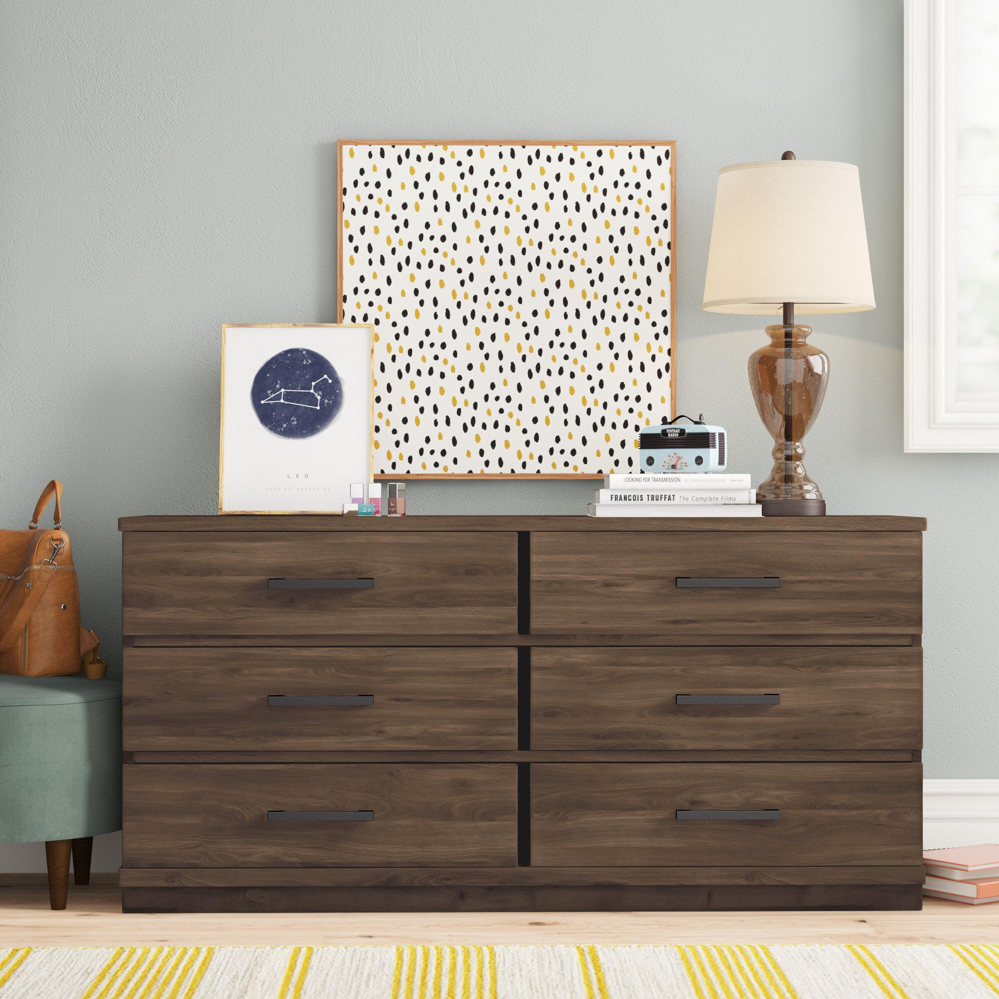 Three Posts Teen Kirkby 6 Drawer Double Dresser Reviews Wayfair