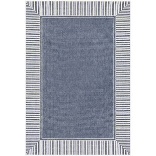 Great Price Oliver Charcoal/White Indoor/Outdoor Area Rug By Bay Isle Home