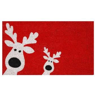 Gilpatrick Deer Welcome Non Slip Outdoor Door Mat Reviews Joss Main