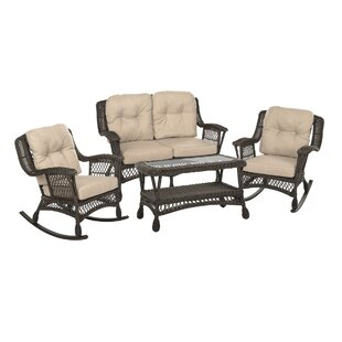 Rupe Garden Patio 4 Piece Sofa Seating Group with Cushions