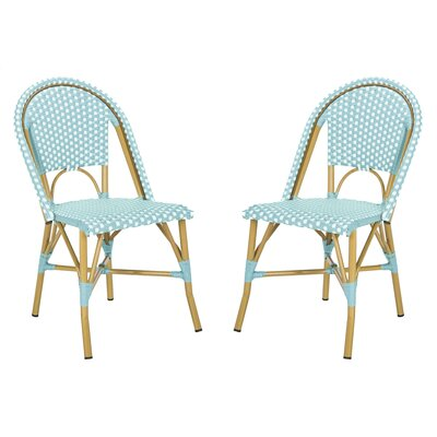 Beachcrest Home Lucia Stacking Patio Dining Chair Color Teal
