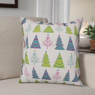 Christmas Tree Pattern Throw Pillow Throw Pillow