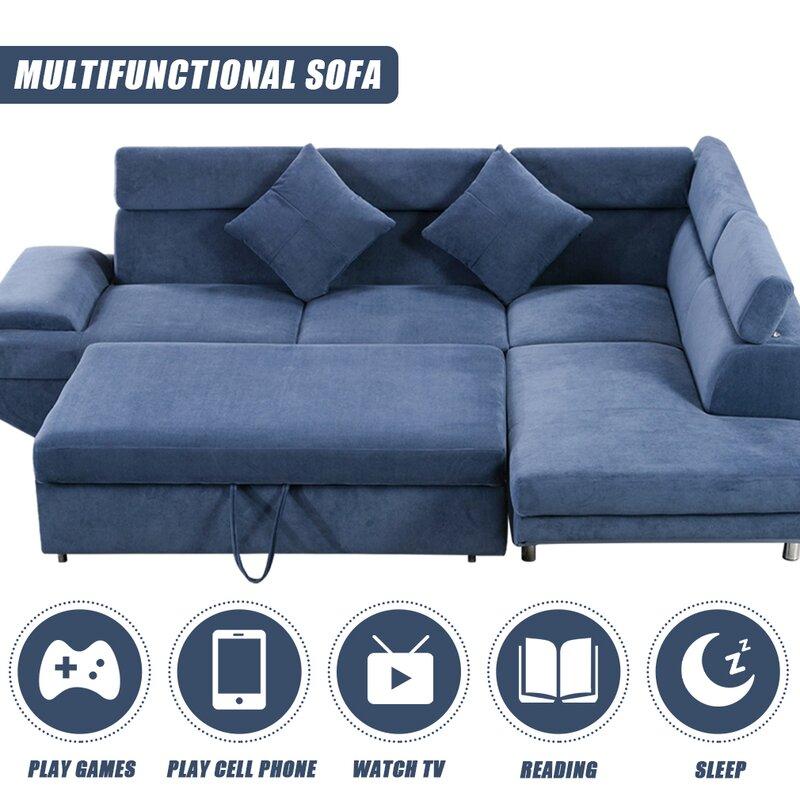 Latitude Run Sofa Bed Sectional Sofa Futon Sofa Bed Sleeper Sofa For Living Room Furniture Set Modern Sofa Set Corner Sofa Upholstered Contemporary Fabric Wayfair