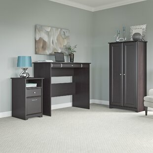 Hillsdale Standing Desk With Storage Cabinet And 2 Drawer Pedestal by Red Barrel Studio Design