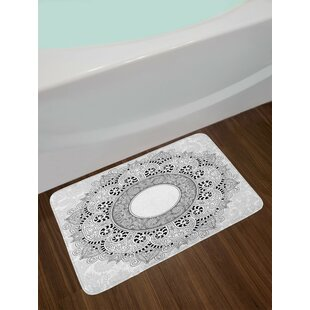 Spring Earth Yellow Pale Pink Watercolor Bath Rug By