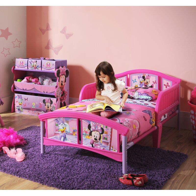 Delta Children Minnie Mouse Plastic Toddler Bed Reviews Wayfair Ca