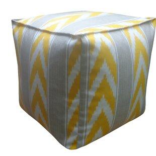 Ikat Stripe Outdoor Pouf by Jiti