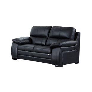 Ugarte Leather Loveseat by Latitude Run