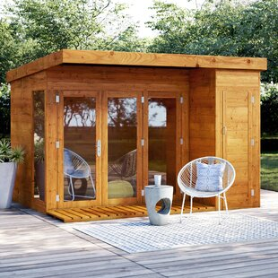 Fitchburg 10 X 8 Ft. Shiplap Summer House By Sol 72 Outdoor
