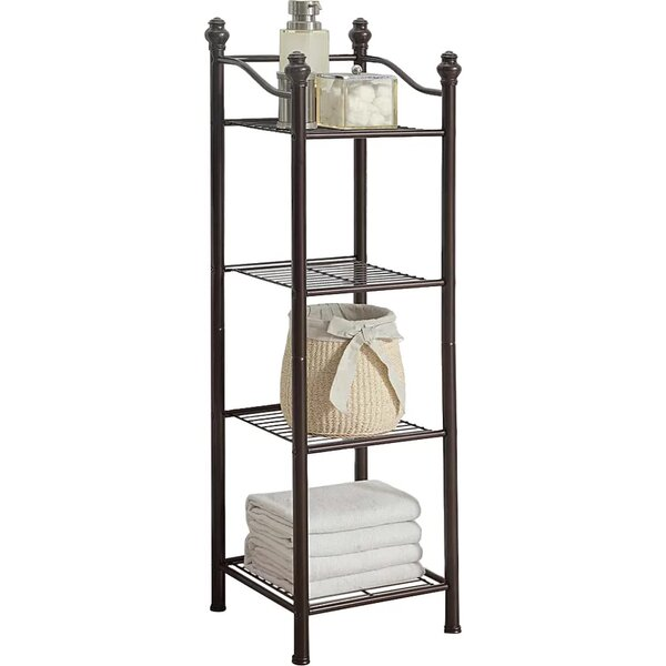 charming Brushed Nickel Bathroom Shelving Unit Part - 19: Free Standing Bathroom Shelving Youu0027ll Love | Wayfair