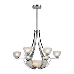 Winston Porter Weedman 9-Light Shaded Chandelier