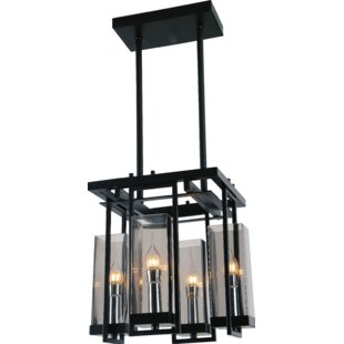 CWI Lighting Vanna 4-Light Shaded Chandelier