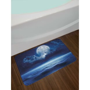 Full Moon Moon Bath Rug