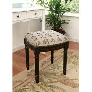 Kanji Upholstered Vanity Stool by 123 Creations