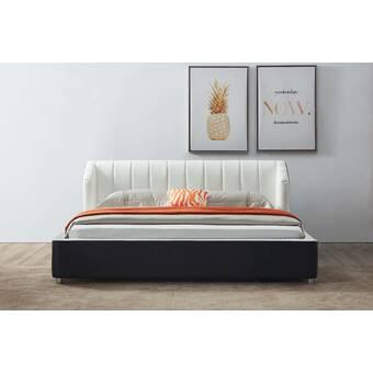 Wrought Studio Brenner Queen Tufted Upholstered Low Profile Storage Platform Bed Wayfair Ca