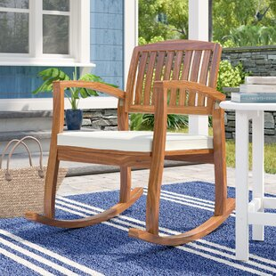 Brayan Rocking Chair With Cushion by Sol 72 Outdoor Spacial Price