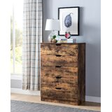 Hanshaw Creative Distressed Utility 5 Drawer Chest by Union Rustic