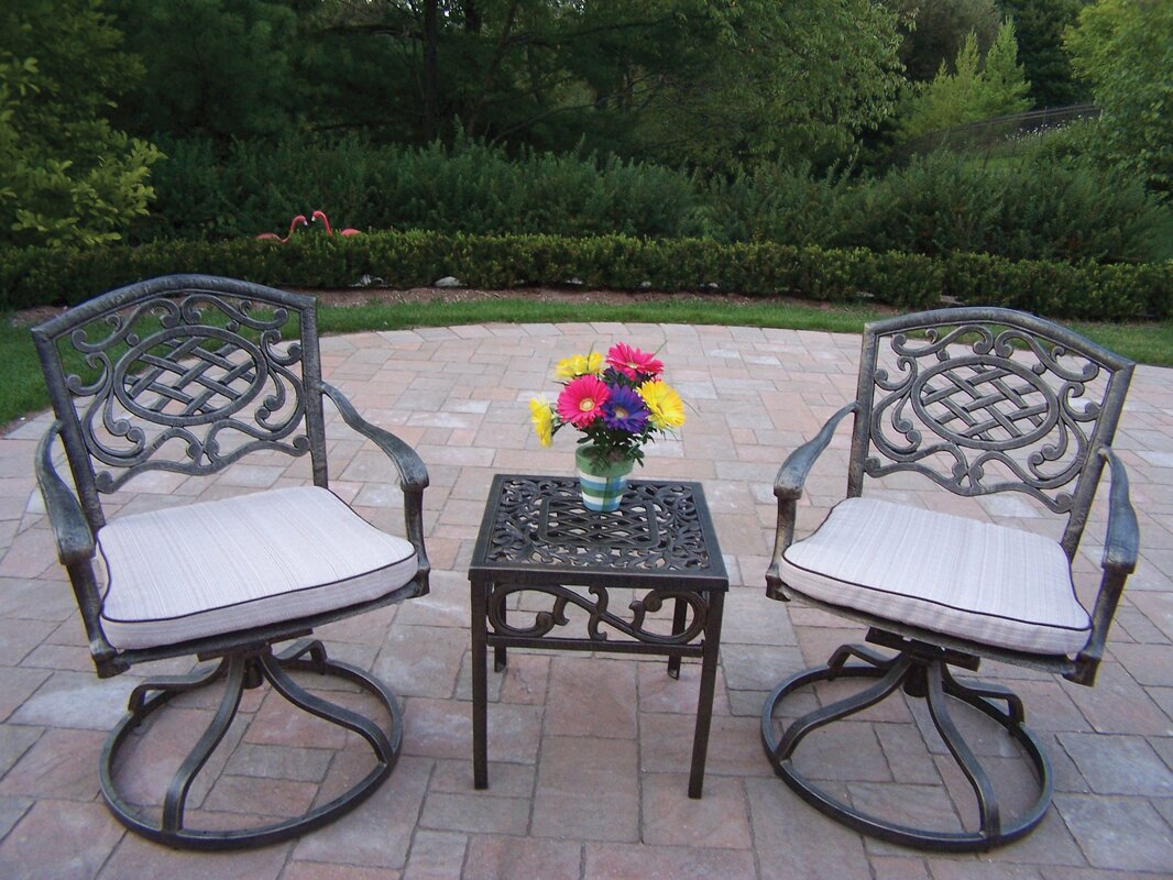 Mississippi 3 Piece Conversation Set with Cushions