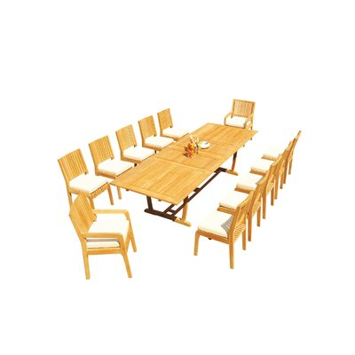 Maskell 13 Piece Teak Dining Set by Rosecliff Heights Looking for
