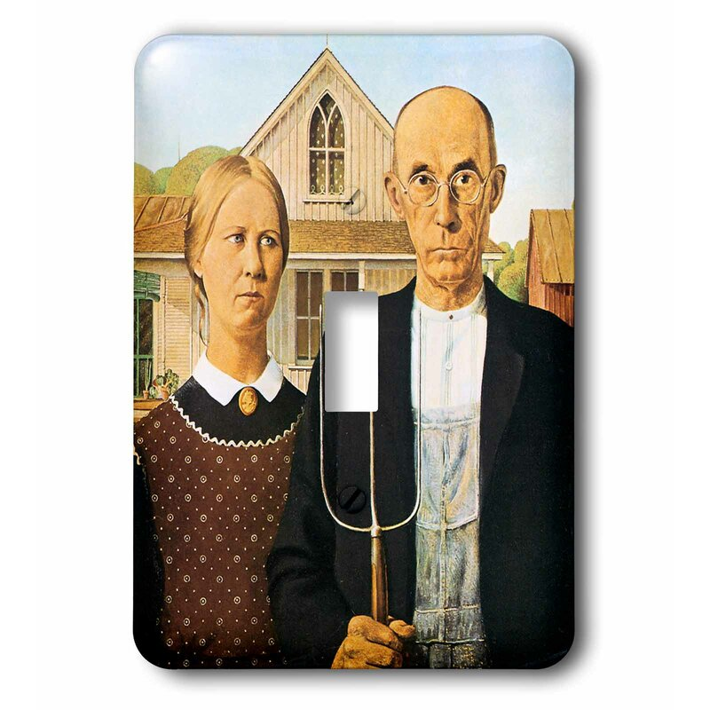 3drose American Gothic By Grant Wood 1 Gang Toggle Light Switch Wall Plate Wayfair