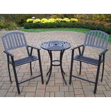 Lisabeth 3 Piece Bar Height Dining Set