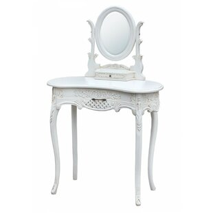 Emberton Dressing Table With Mirror By Fleur De Lis Living