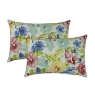Alcove Boudoir Outdoor Lumbar Pillow (Set of 2)