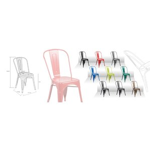 Metal Stackable Side Chair (Set of 4) by ..
