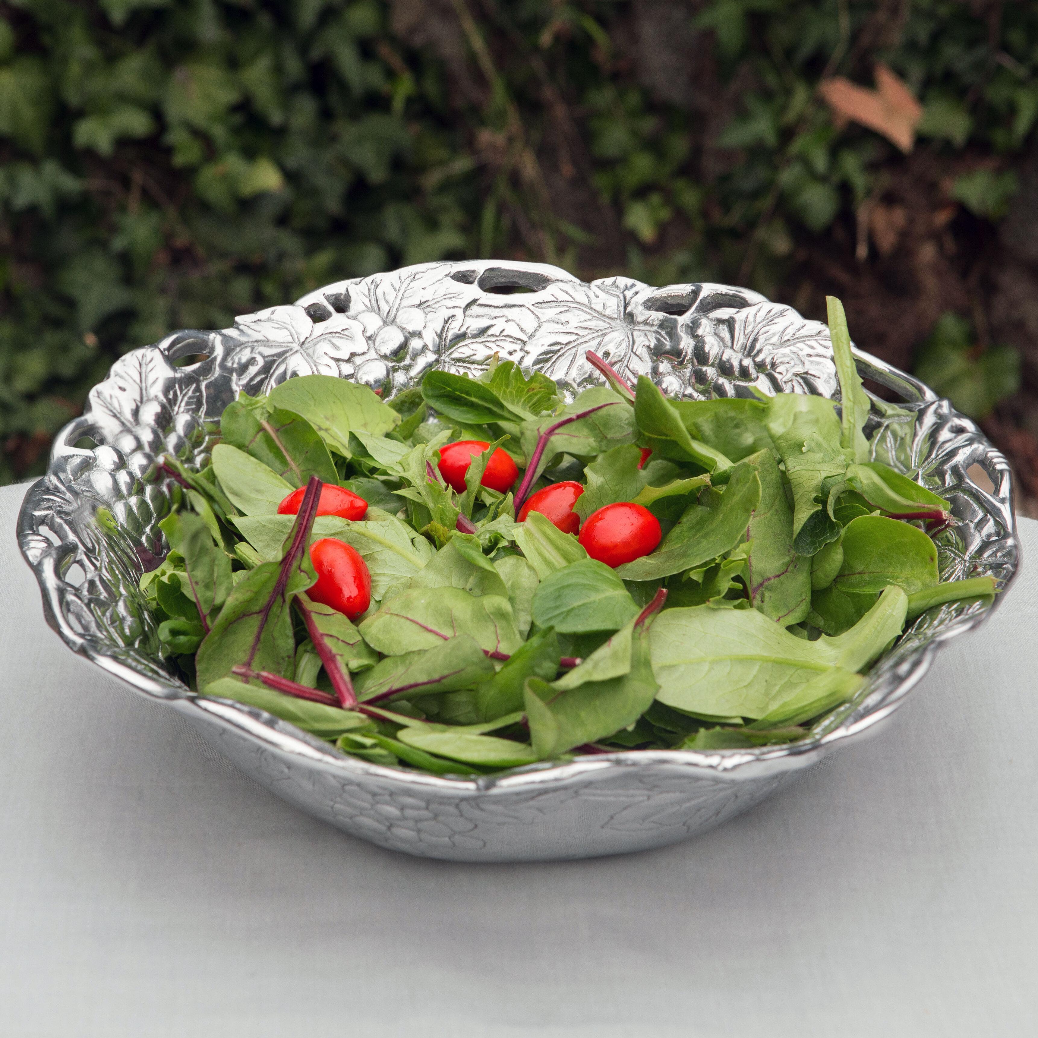 Fruit Bowl Ceramic Salad Grape Design Kitchenware Tuscan Style Decor Pedestal Decorative Plates Bowls