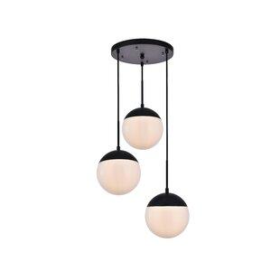 3 light cluster pendant modern yearby 3light cluster pendant modern lighting allmodern