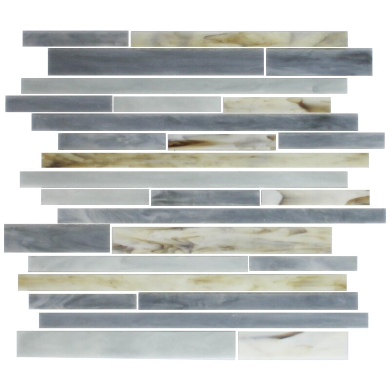 Susanjablon Stix Stained Random Sized Glass Mosaic Tile In Oyster Gray Wayfair