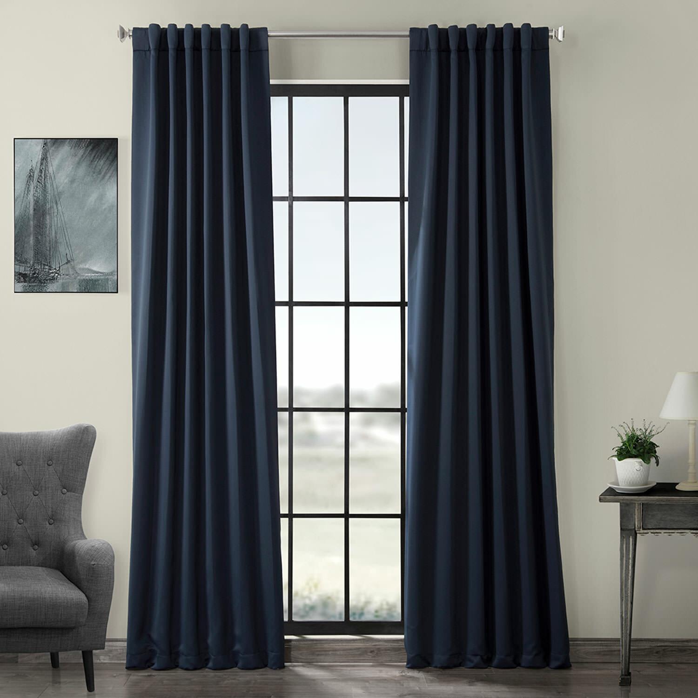 Darby Home Co Destinie Solid Color Room Darkening Rod Pocket Single Curtain Panel Reviews Wayfair