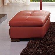 Amira Leather Ottoman