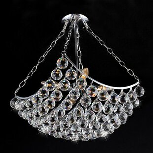 McCook 4-Light Crystal Semi Flush Mount by House of Hampton
