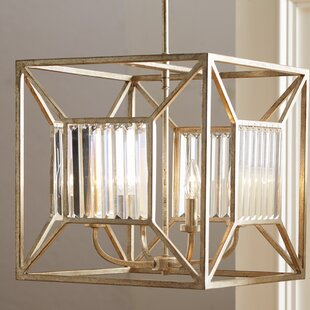 Affordable Rish 4-Light Square/Rectangle Chandelier By Willa Arlo Interiors