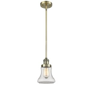Beachcrest Home Nardone 1-Light Bell Pendant