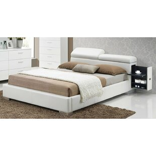 Vine Contemporary Upholstered Storage Platform Bed