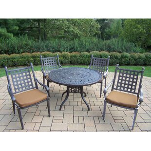 Darby Home Co Vandyne 5 Piece Round Dinin..