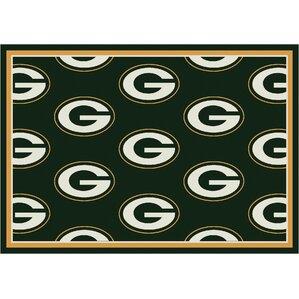 NFL Team Repeat Green Bay Packers Football Indoor/Outdoor Area Rug