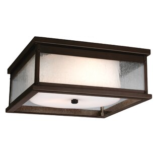 Reviews Hazelwood 2-Light Outdoor Flush Mount By Darby Home Co