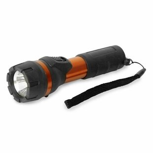 Messina Black Battery Powered LED Outdoor Flashlight By Symple Stuff