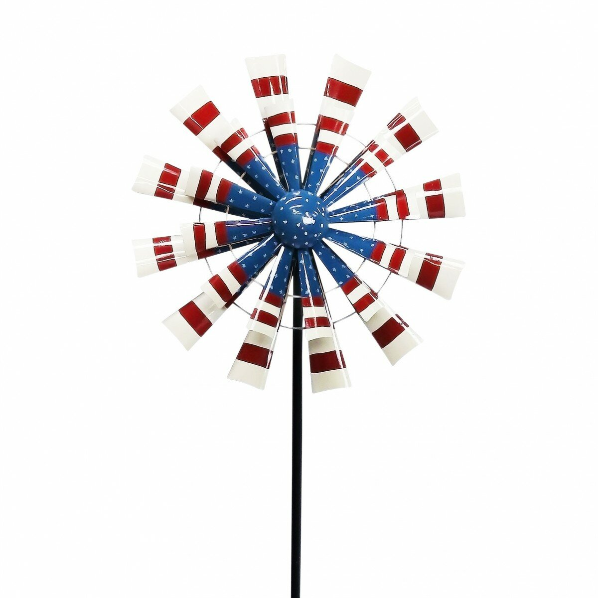 Autumn Palette Kinetic Wind Spinner Outdoor Lawn Decor Durable Metal Yard Art